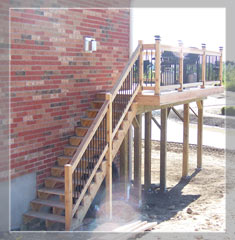 Walk out deck - Stairs